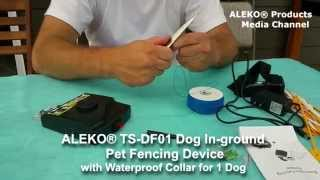 Aleko® Ts-df01 Dog In-ground Pet Fencing Device With Waterproof Collar For 1 Dog