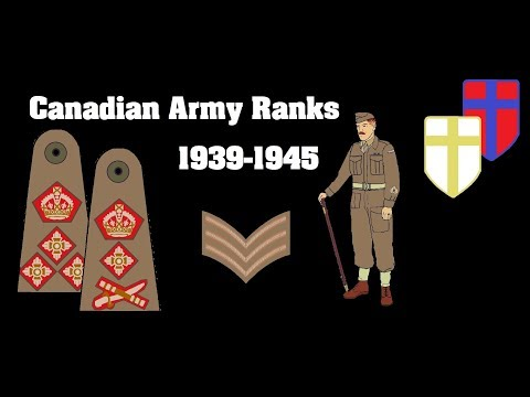 Canadian Army Ranks 1939-1945