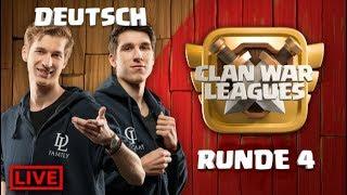 🏆Clash of Clans Live - Dark Looters - Clankriegs Liga Runde 4 - Rathaus 12 angriff - coc deutsch