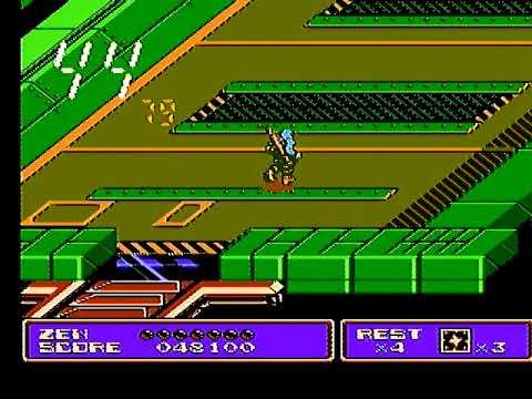 Zen: Intergalactic Ninja - NES Longplay - No Deaths (Nomiss) - Real Hardware