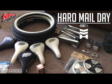 Haro MidSchool BMX Mail Day! Part 1 Bar Ends 3 Mega Nukes 44T Mega Cup CNC USA Made Stem & More