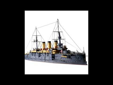 DIY Czar Russia Navy Oslabya Battleship Military Paper Ship Model Kits