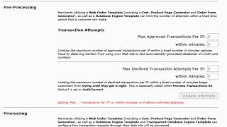 Transaction Processing Control