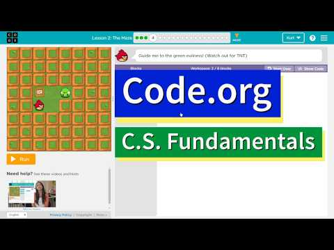 The Maze - Lesson 2.4 - Code.org Accelerated Intro to CS Course