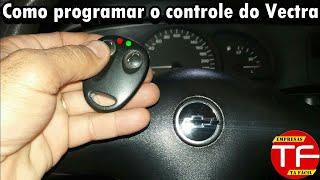 Programação do controle Corujinha do alarme original do Vectra .
