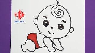 رسم اطفال سهل وجميل | كيف ترسم طفل كيوت HOW TO DRAW ACUTE BABY STEP BY STEP EASY
