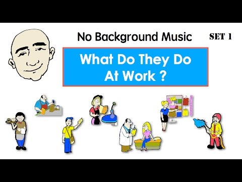 Occupations | What Do They Do? | English Speaking Practice | ESL | EFL | Set 1