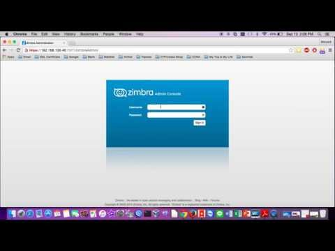 Change Security Password on Zimbra Mail Server - YouTube