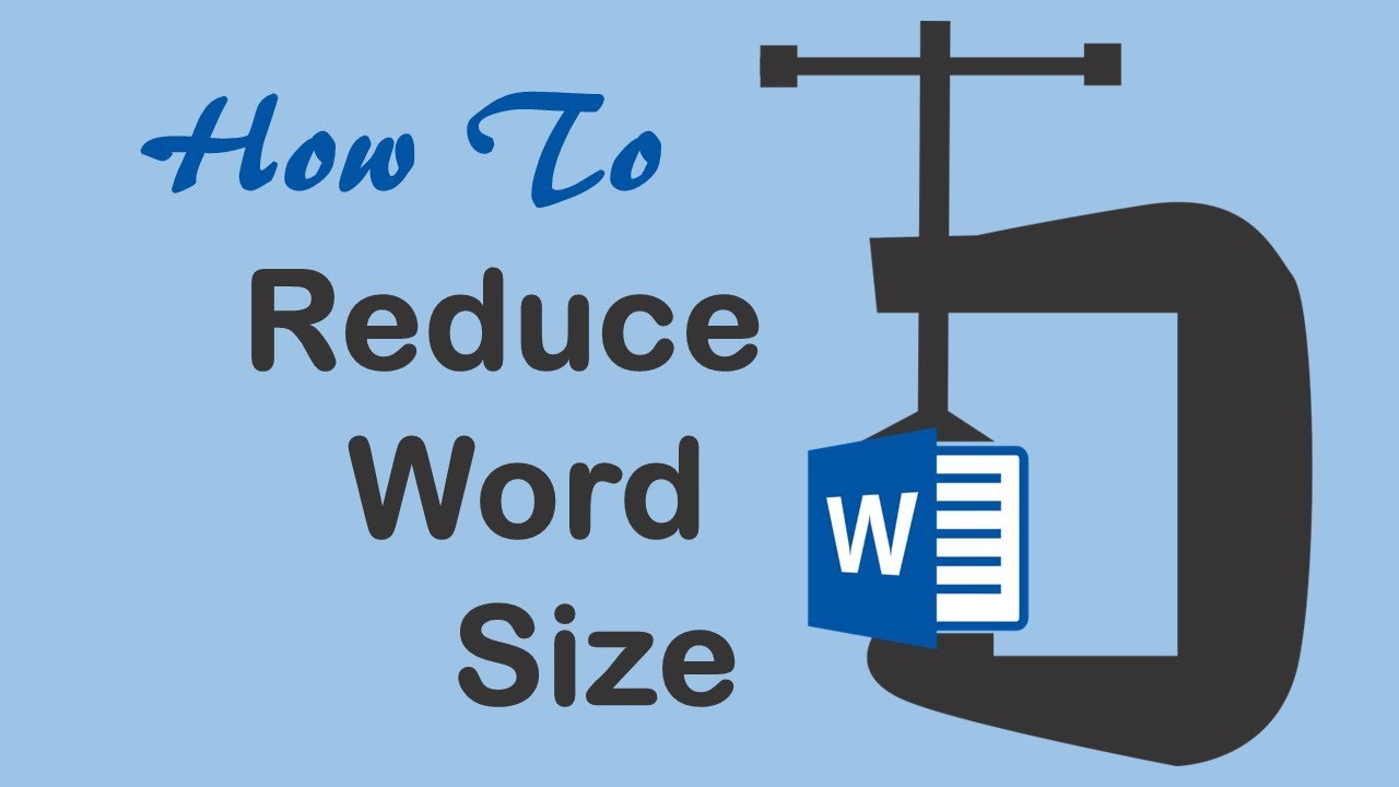 How to reduce file size of MS Word 2019 - YouTube