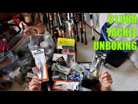 MASSIVE BASS PRO SHOPS TACKLE & LURE UNBOXING!!!