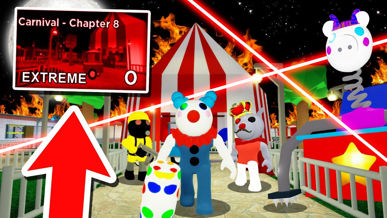 How To Beat ROBLOX PIGGY EXTREME CARNIVAL!! (Piggy Glitches)