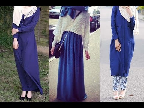 8706d29291e38 Royal Blue Hijab Outifits ملابس وازياء المحجبات باللون الازرق الملكي ...