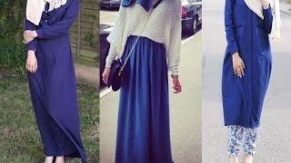 Royal Blue Hijab Outifits ملابس وازياء المحجبات باللون الازرق الملكي screenshot 1