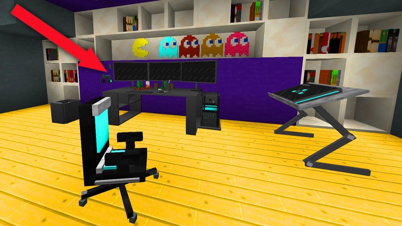 3d animiertes gaming zimmer in minecraft youtube - Gamer zimmer ...