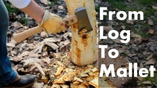 Making a Mallet from a Walnut Log