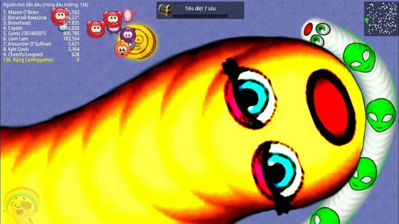Worms zone.io : Rắn săn mồi, trò chơi con rắn : lv 88