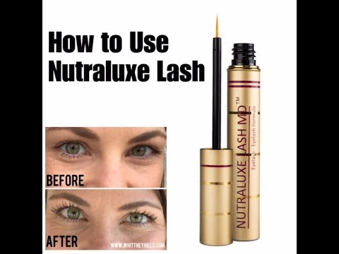 b7c25441f89 Nutraluxe Lash MD How to Use Video - YouTube