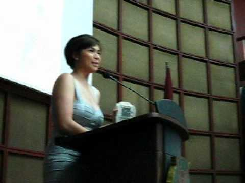Diana Zubiri's speech at the YCC Film Desk awarding Travel Video