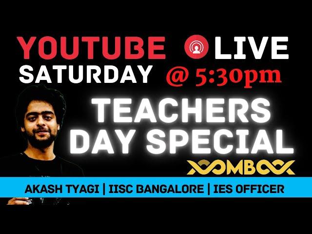 AKASH TYAGI LIVE  Teachers Day Special