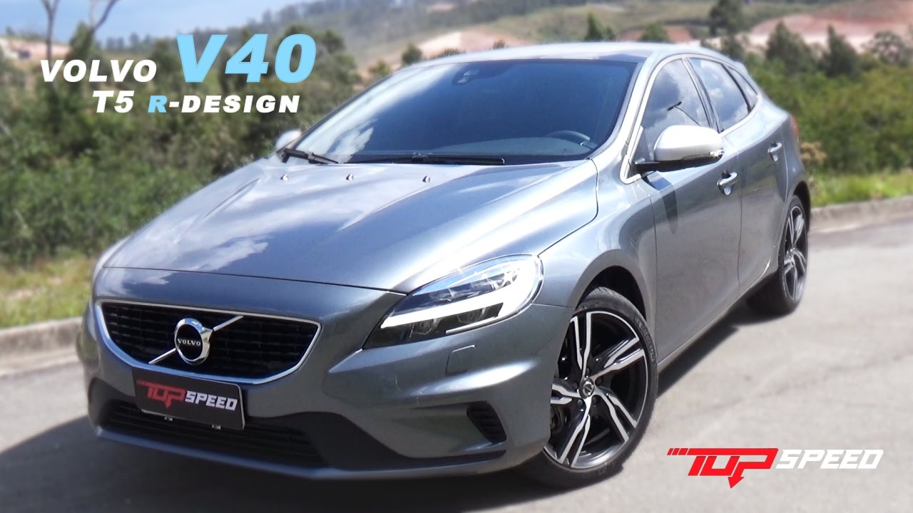 volvo v40 t5 r design 2017 canal top speed doovi. Black Bedroom Furniture Sets. Home Design Ideas