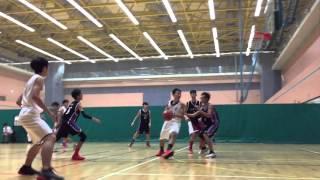 2015 學界籃球港島區 D2 A grade 筲官(白)55:聖馬可(黑)30