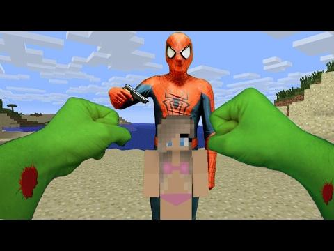 REALISTIC MINECRAFT ~ HULK VS BAD SPIDERMAN