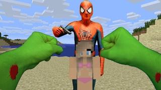REALISTIC MINECRAFT HULK VS BAD SPIDERMAN