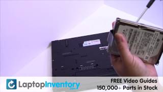 IBM Lenovo T500 Hard Drive Replacement Installation ThinkPad
