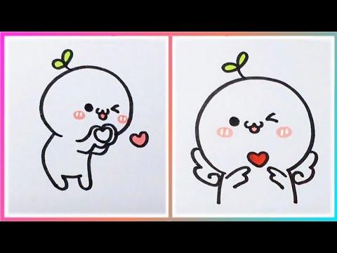 Vẽ Hình Cute Siêu ĐẸP Siêu DỄ   Cách Vẽ Những Hình Dễ Thương Đơn Giản Nhất (P1)