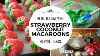 STRAWBERRY COCONUT MACAROONS