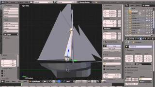 Pilot Cutter: speed model+rig+animate of a sailing vessel