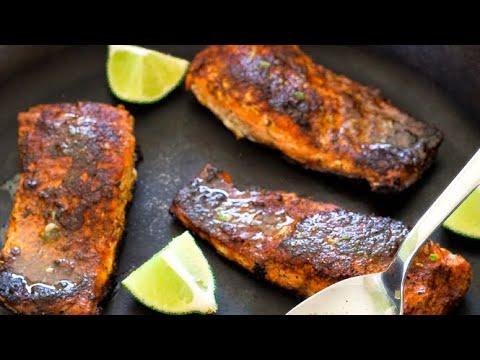Salmon Fish Fry Indian Style - Fry Fish Recipe In Hindi - Fish Massla Fry