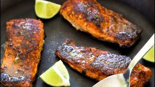 Salmon Fish Fry Indian style - Fry Fish Recipe in Hindi - Fish Massla fry