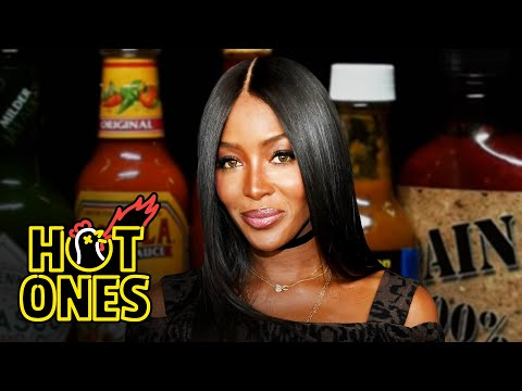 Naomi Campbell Almost Faints While Eating Spicy Wings | Hot Ones