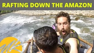 SAILING DOWN THE AMAZON RIVER ON A RAFT WE BUILT! - (Episode 6)