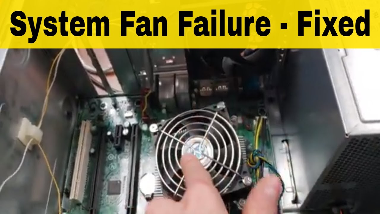 System Fan Failure Press F1 To Continue Youtube
