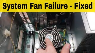 System Fan Failure Press F1 to Continue