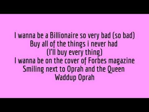 Billionaire - Kidz bop Lyrics