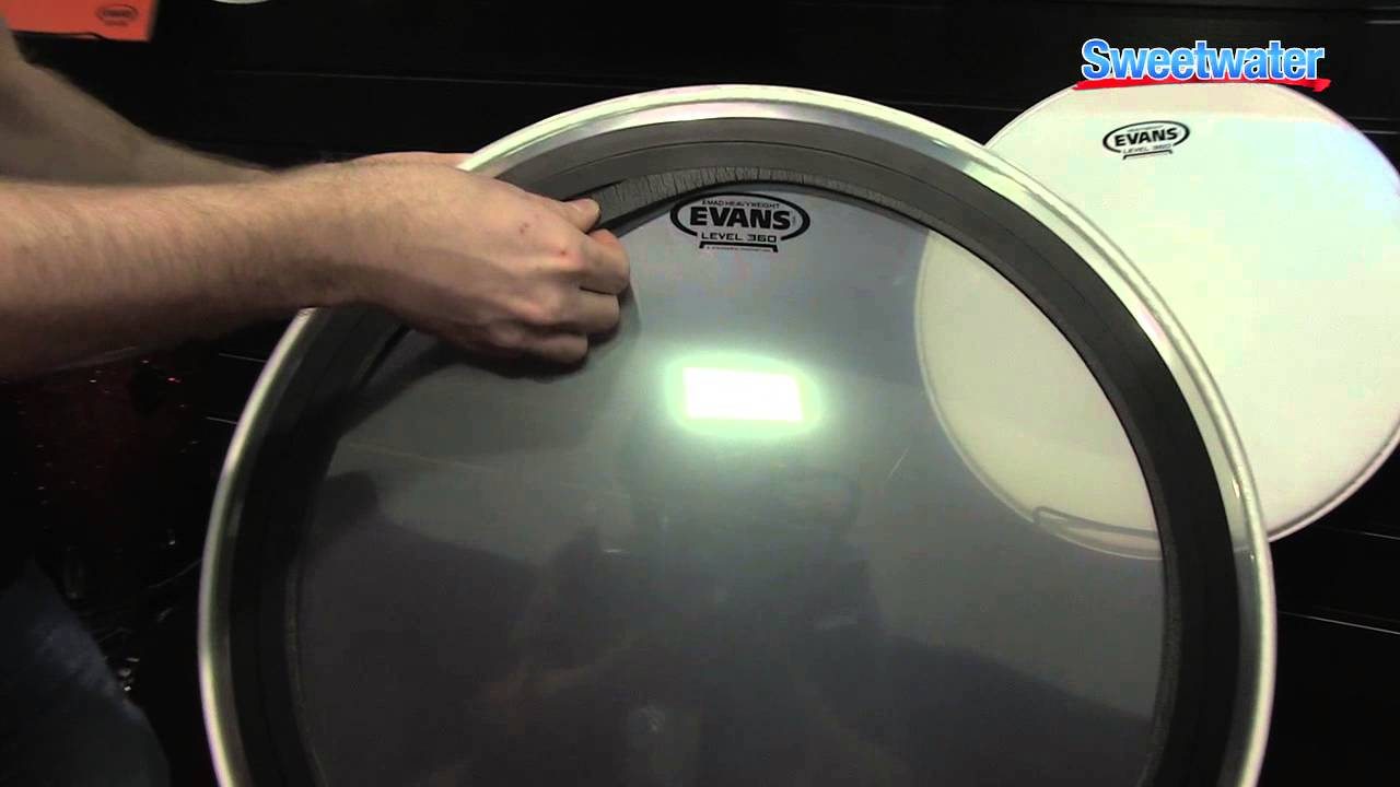 evans heavyweight drums heads overview sweetwater at winter namm 2014 youtube. Black Bedroom Furniture Sets. Home Design Ideas
