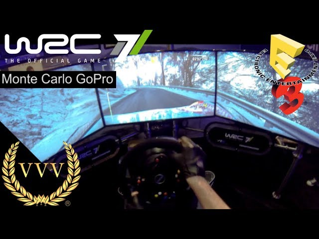 WRC 7 - GoPro Camera Triple Screen Monte Carlo