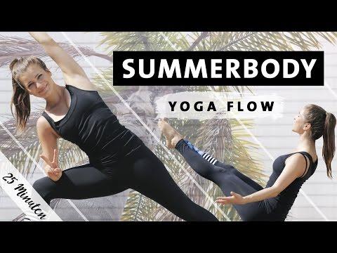 Summerbody Vinyasa Yoga Flow   Ganzkörper Workout für Bauch Beine Po Rücken