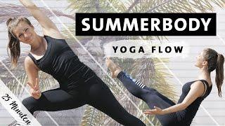 Summerbody Vinyasa Yoga Flow | Ganzkörper Workout für Bauch Beine Po Rücken