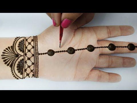 आसान गोल टिक्की मेहँदी डिज़ाइन लगाना सीखे - Front Hand Mehndi Designs - BeautyZing