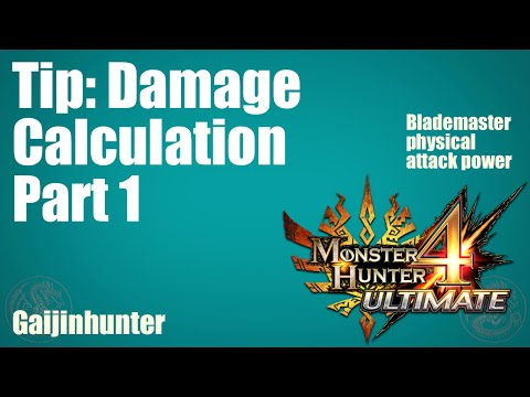 MH4U: How Physical Damage Works
