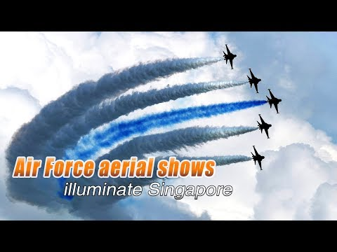 Live: Multinational air forces flying displays in Singapore Airshow '18多国飞行表演翱翔新加坡航展