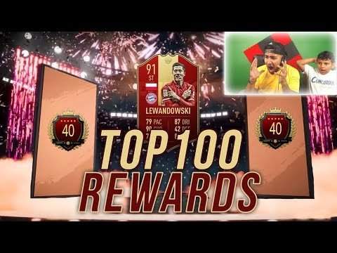 40th IN THE WORLD PACKS!! TOP100 PACKS! FutChampions FIFA19