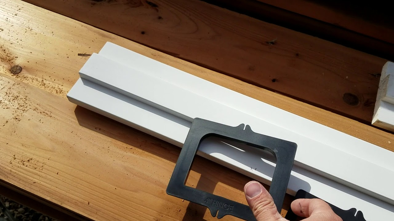 How To Router Out A Door Jamb With Milescraft Hinge