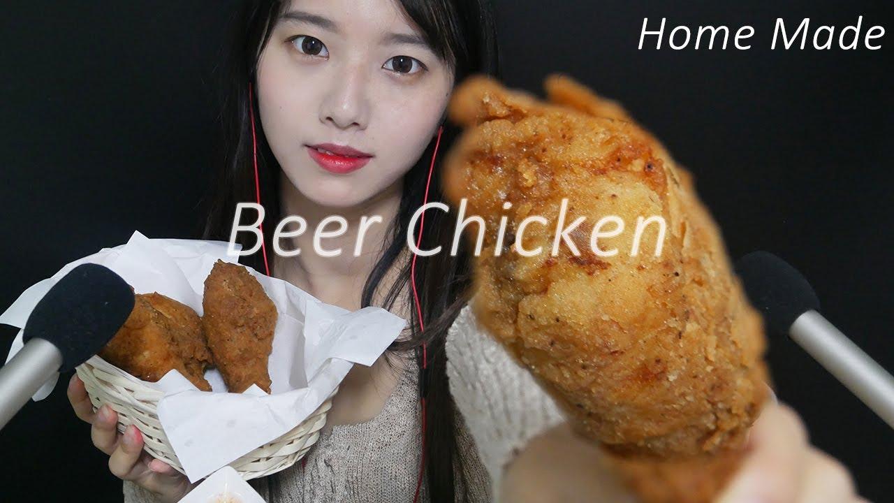 직접만든 비어 치킨 리얼사운드 먹방~(Chicken Eating Sound)[한국어 ASMR]홈메이드, 치킨,Home made,chicken,치킨먹방,꿀꿀선아,수면유도, #1