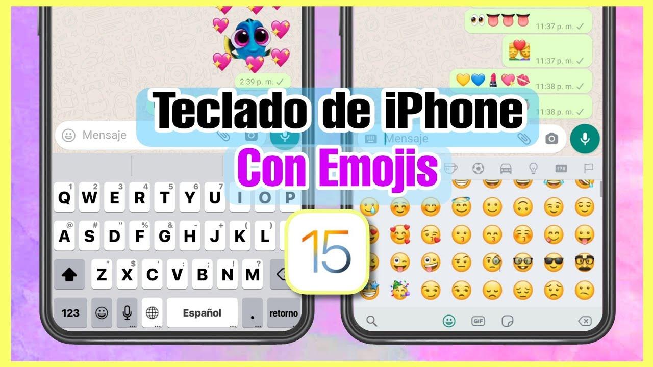 TECLADO de IPHONE para Android 2021 ✅🔥 (con emojis y sonidos)