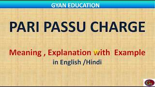 What is Pari Passu Charge, understand with example